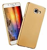 Samsung Galaxy A8 2016 Tam Kenar Koruma Gold Rubber Kılıf
