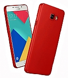 Samsung Galaxy A8 2016 Tam Kenar Koruma Bordo Rubber Kılıf