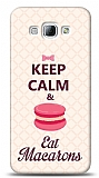Samsung Galaxy A8 Keep Calm And Eat Macaron Kılıf
