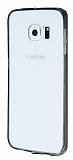 Eiroo Samsung Galaxy S6 Edge Siyah Silikon Kenarlı Kristal Kılıf