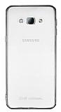 Samsung Galaxy A8 Siyah Silikon Kenarlı Kristal Kılıf
