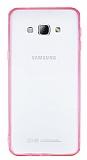 Samsung Galaxy A8 Pembe Silikon Kenarl� Kristal K�l�f