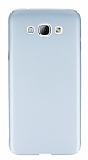 Samsung Galaxy A8 Tam Kenar Koruma Silver Rubber Kılıf