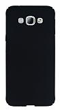 Samsung Galaxy A8 Tam Kenar Koruma Siyah Rubber K�l�f
