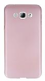 Samsung Galaxy A8 Tam Kenar Koruma Rose Gold Rubber K�l�f