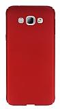Samsung Galaxy A8 Tam Kenar Koruma Kırmızı Rubber Kılıf
