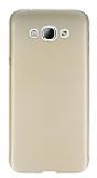 Samsung Galaxy A8 Tam Kenar Koruma Gold Rubber K�l�f