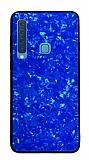 Samsung Galaxy A9 2018 Desenli Silikon Kenarlı Lacivert Rubber Kılıf