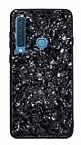 Samsung Galaxy A9 2018 Desenli Silikon Kenarlı Siyah Rubber Kılıf