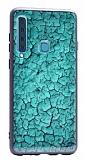 Samsung Galaxy A9 2018 Marble Yeşil Silikon Kılıf