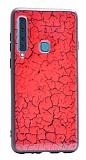 Samsung Galaxy A9 2018 Marble Kırmızı Silikon Kılıf