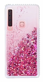 Samsung Galaxy A9 2018 Simli Sulu Pembe Rubber Kılıf