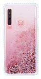 Samsung Galaxy A9 2018 Simli Sulu Rose Gold Rubber Kılıf