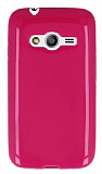 Samsung Galaxy Ace 4 Parlak Pembe Silikon Kılıf