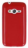 Samsung Galaxy Ace 4 Parlak K�rm�z� Silikon K�l�f