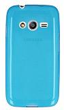 Samsung Galaxy Ace 4 Ultra İnce Şeffaf Mavi Silikon Kılıf
