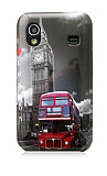 Samsung Galaxy Ace S5830 London Sert Parlak Rubber K�l�f