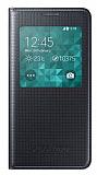 Samsung Galaxy Alpha Orjinal Uyku Modlu Pencereli Siyah Kılıf
