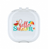 Samsung Galaxy Buds Live Hello Summer Resimli Şeffaf Silikon Kılıf