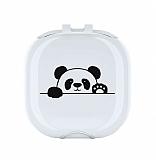 Samsung Galaxy Buds Live Panda Resimli Şeffaf Silikon Kılıf