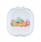 Samsung Galaxy Buds Live Renkli Yumurtalar Resimli Şeffaf Silikon Kılıf
