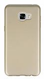 Samsung Galaxy C5 Mat Gold Silikon Kılıf