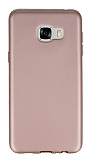 Samsung Galaxy C5 Mat Rose Gold Silikon Kılıf