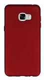 Samsung Galaxy C7 Mat Kırmızı Silikon Kılıf