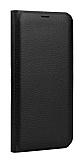 LG Q6 İnce Yan Kapaklı Cüzdanlı Siyah Kılıf