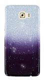 Samsung Galaxy C7 Pro Simli Siyah Silikon Kılıf
