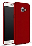 Samsung Galaxy C7 Pro Tam Kenar Koruma Kırmızı Rubber Kılıf