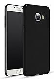 Samsung Galaxy C7 Pro Tam Kenar Koruma Siyah Rubber Kılıf