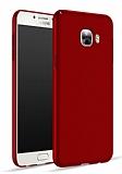 Samsung Galaxy C7 SM-C7000 Tam Kenar Koruma Kırmızı Rubber Kılıf