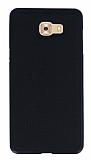 Samsung Galaxy C9 Pro Kumaş Görünümlü Siyah Silikon Kılıf