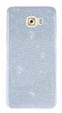 Samsung Galaxy C9 Pro Simli Silver Silikon Kılıf
