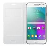 Samsung Galaxy E5 Orjinal Flip Wallet Beyaz K�l�f