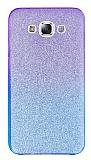 Samsung Galaxy E5 Simli Mor Silikon Kılıf
