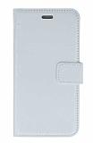 Samsung Galaxy Grand Prime Plus Cüzdanlı Kapaklı Beyaz Deri Kılıf