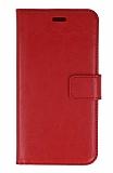 Samsung Galaxy Grand Prime Plus Cüzdanlı Kapaklı Kırmızı Deri Kılıf