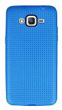 Samsung Galaxy Grand Prime / Prime Plus Nokta Desenli Mat Mavi Silikon Kılıf
