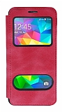 Samsung Galaxy Grand Prime / Prime Plus Çift Pencereli Kapaklı Pembe Kılıf