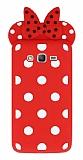 Samsung Galaxy Grand Prime / Prime Plus Fiyonklu Kırmızı Silikon Kılıf