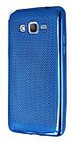 Samsung Galaxy Grand Prime / Prime Plus Noktalı Metalik Mavi Silikon Kılıf
