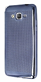 Samsung Galaxy Grand Prime / Prime Plus Noktalı Metalik Dark Silver Silikon Kılıf