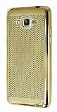 Samsung Galaxy Grand Prime / Prime Plus Noktalı Metalik Gold Silikon Kılıf