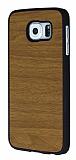 Samsung Galaxy i9800 S6 Ahşap Görünümlü Sarı Rubber Kılıf
