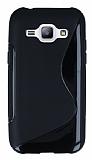 Samsung Galaxy J1 Desenli Siyah Silikon K�l�f