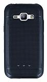 Samsung Galaxy J1 Metalik Noktalı Siyah Silikon Kılıf