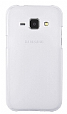 Samsung Galaxy J1 Silikon Kenarlı Şeffaf Rubber Kılıf