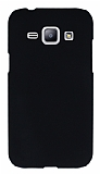 Samsung Galaxy J1 Siyah Sert Rubber K�l�f